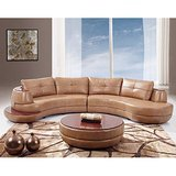 Global Furniture USA Bonded Leather Sectional