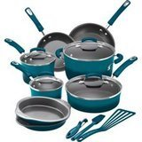 Rachael Ray 15-Piece Enamel Nonstick