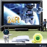 Sewinfla 24-Foot Inflatable Movie Screen with Blower
