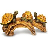 Solario Solar Powered Turtles on Log Decorative Light