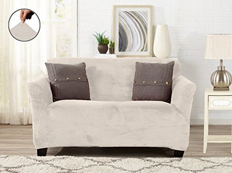 from bay great gale grey slipcover strapless in bath buy slipcovers home loveseat dove bed beyond